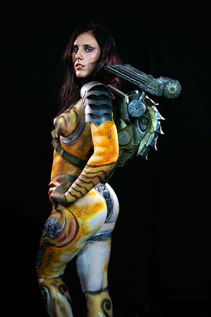 Female Predator Body Paint Cosplay