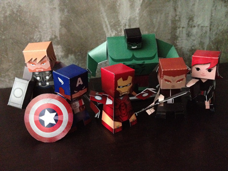 comic book paper toys