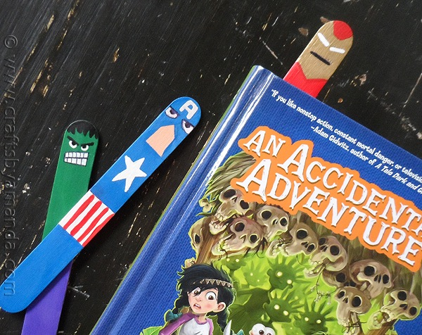 avengers bookmarks diy