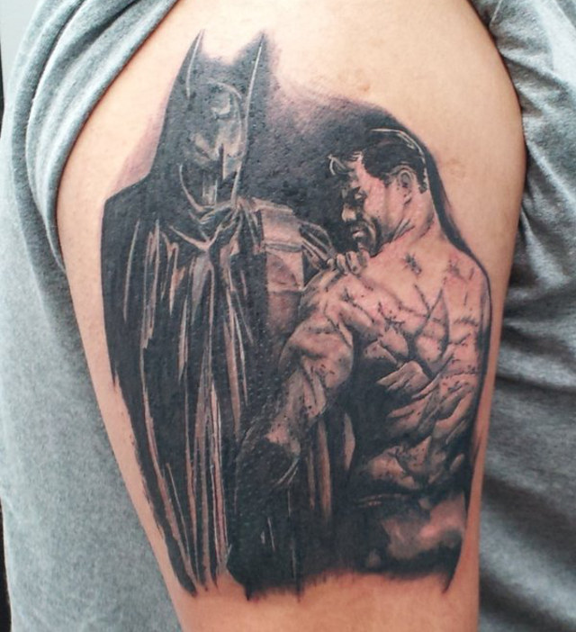 scarred batman tattoo