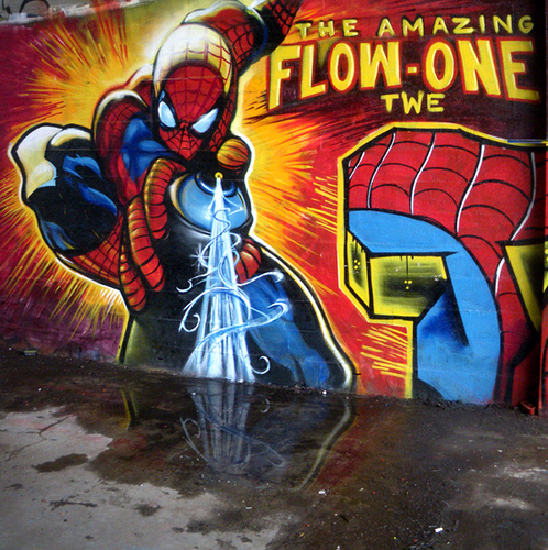spider-man graffiti
